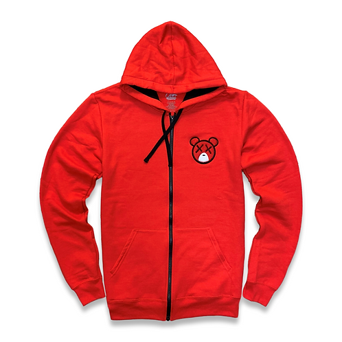 Trappy Bear Zip Up (Red)