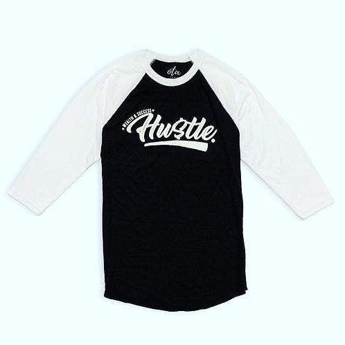 Hustle Raglan Tee Black & White