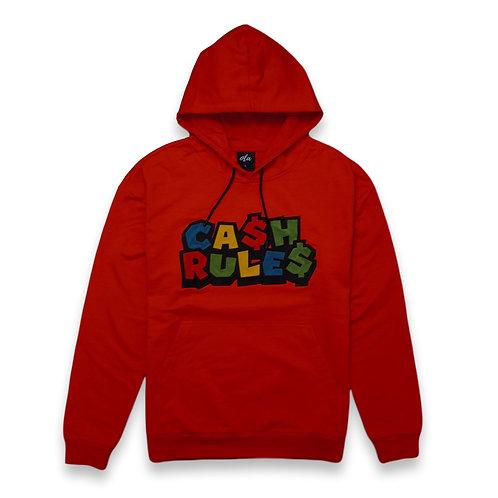 Cash Rule$ Hoodie Red