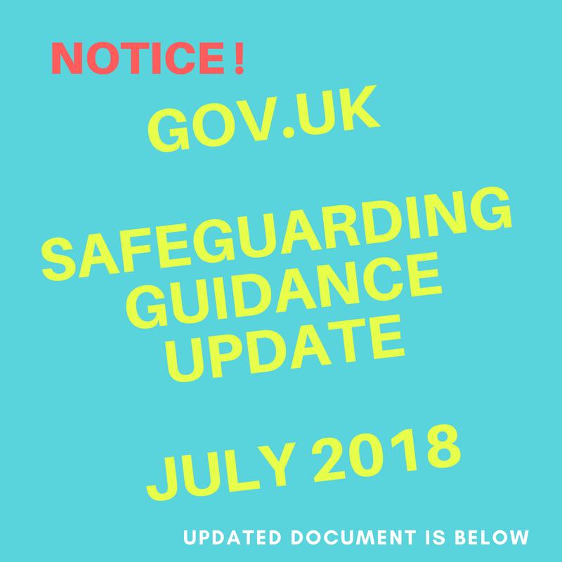SAFEGUARDING GUIDANCE UPDATE JUNLY 2018