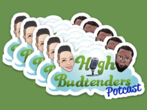 5pk High Budtenders Logo Stickers