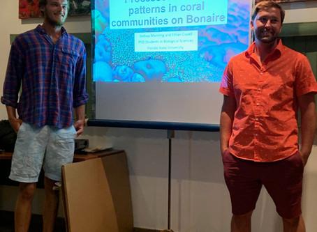 Josh and Ethan speak at STINAPA Bonaire