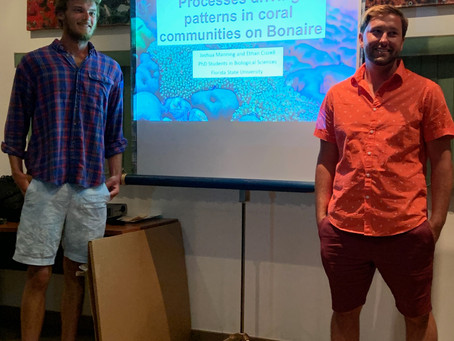Josh and Ethan speak at STINAPA Bonaire