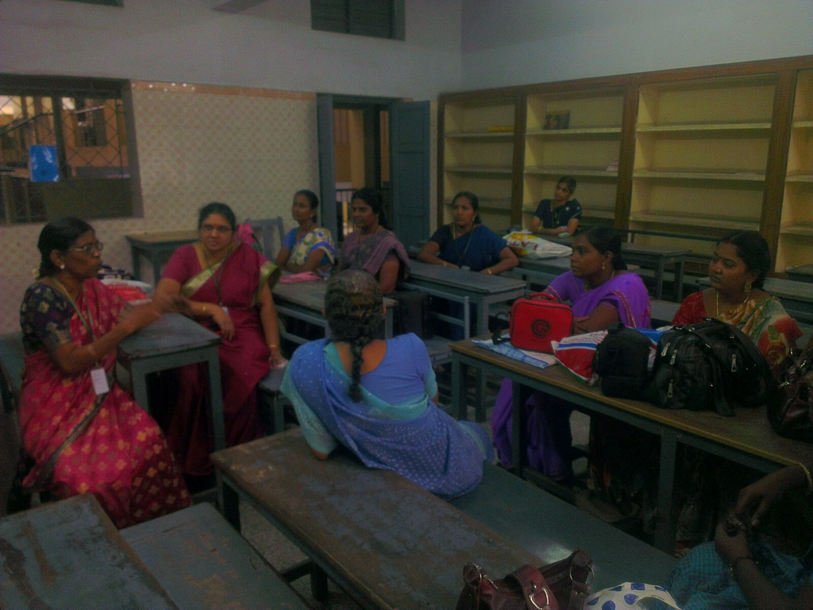 Group discussion among teachers.