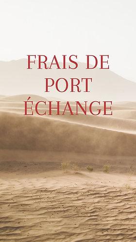 Frais de port échange