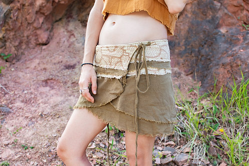 Khadi mini skirt