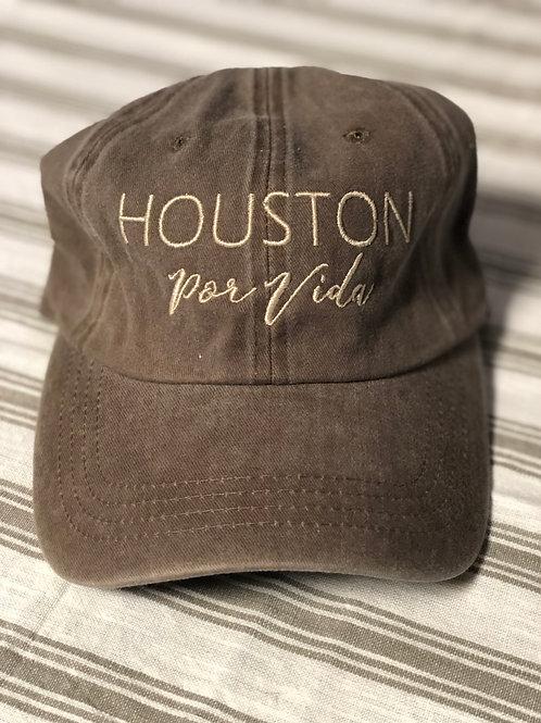 Houston Por Vida Hat Heather Brown