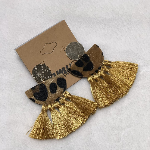 Leopard and Gold Tassels