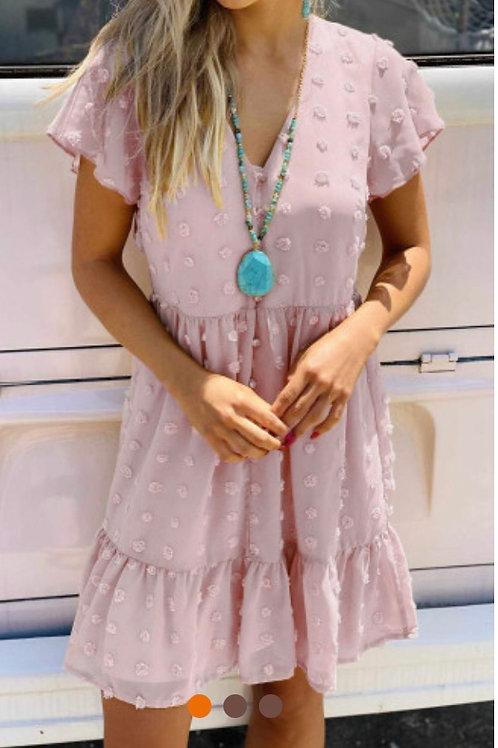 Powder pink summer dress