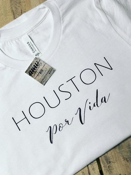 Houston Por Vida White