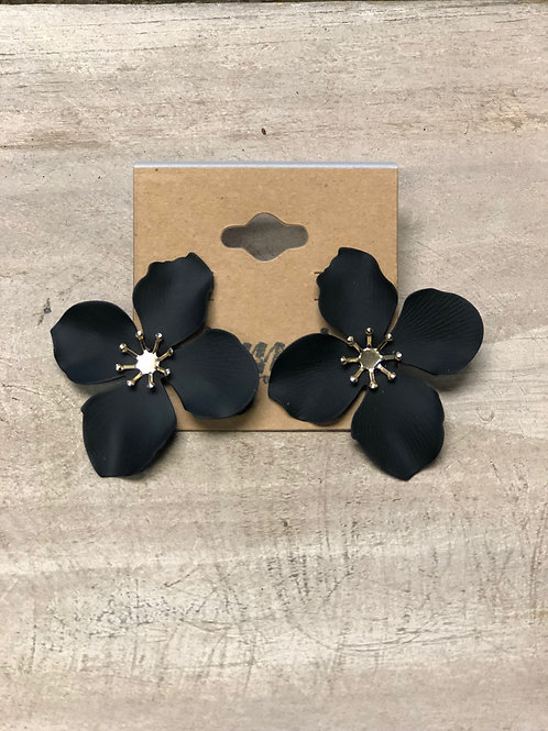 Large Black and Gold Flower