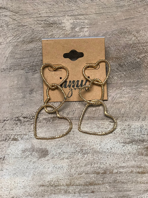 Gold Heart Drip