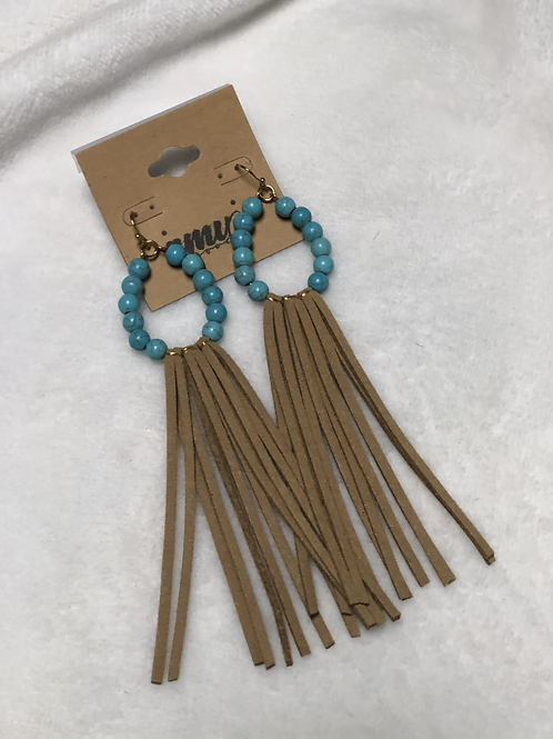 Small Turquoise Long Tassel