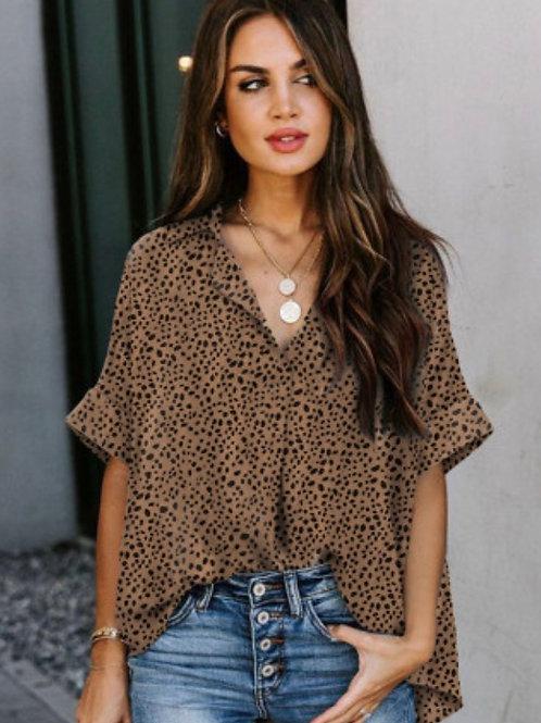 Leopard over size shirt