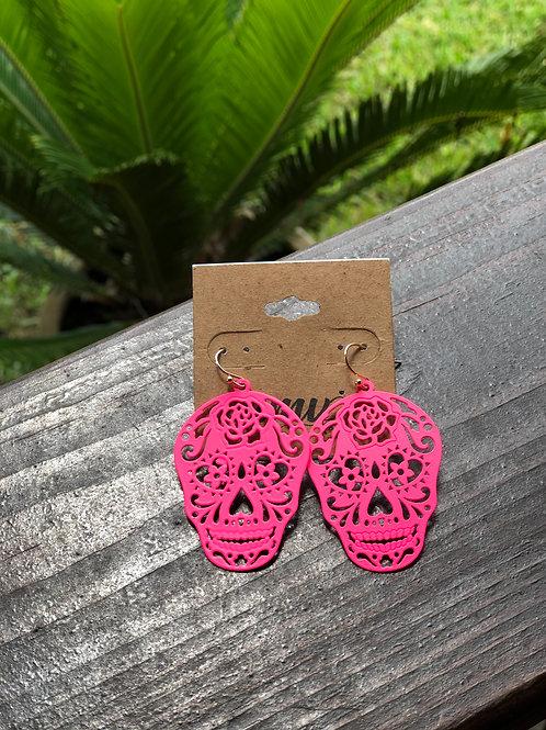 Sugar skull hot pink