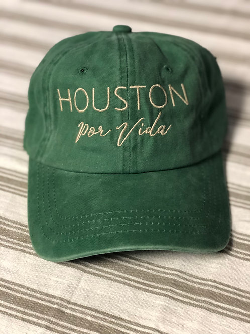 Houston Por Vida Hat Green