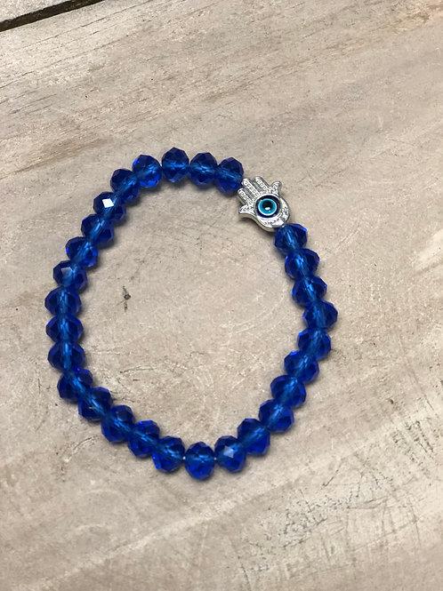 Blue beaded Ojo Bracelet