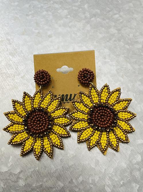 Beaded sunflower