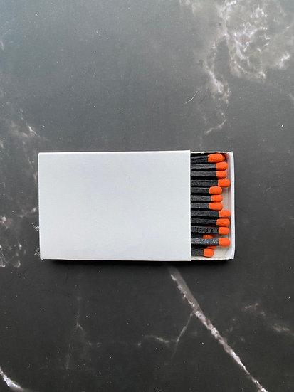 Custom Foil Stamped Matchbox - Orange/Black Matchstick