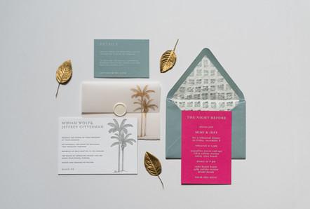 Soft Blue Vellum Foil Wedding Suite
