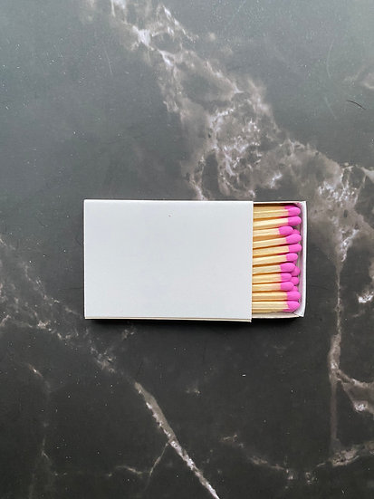 Custom Foil Stamped Matchbox - Natural/Bubblegum Matchstick