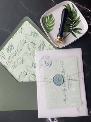 Olive Wedding Suite by Polk Paper