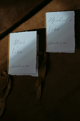 Custom Vow Booklets