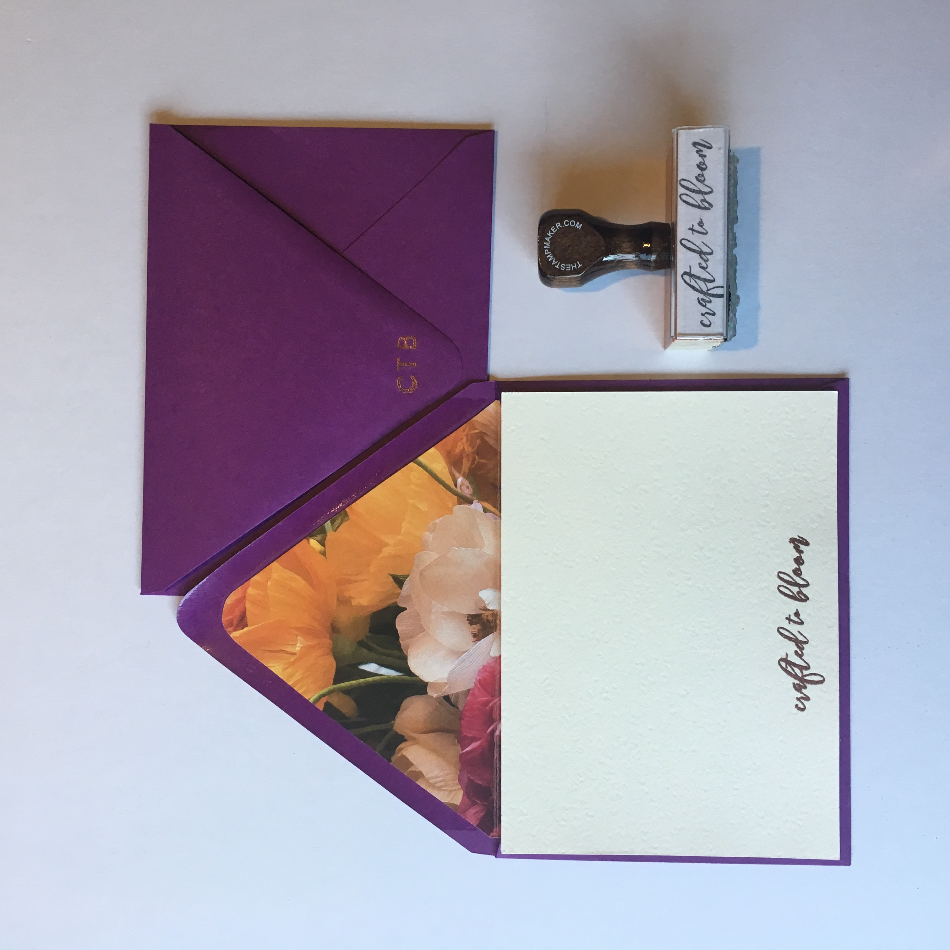 Crafted to Bloom Custom Stationery