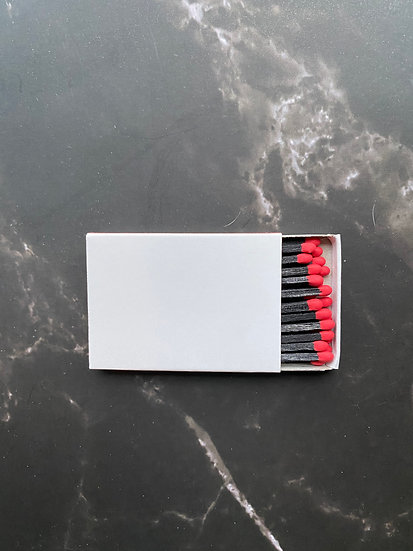 Custom Foil Stamped Matchbox - Red/Black Matchstick