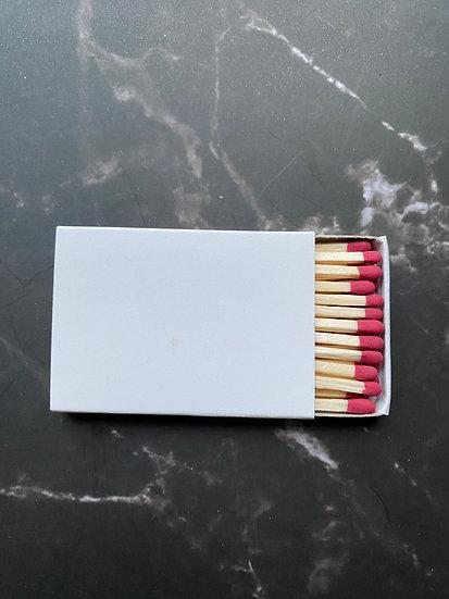 Custom Foil Stamped Matchbox - Natural/Berry Matchstick