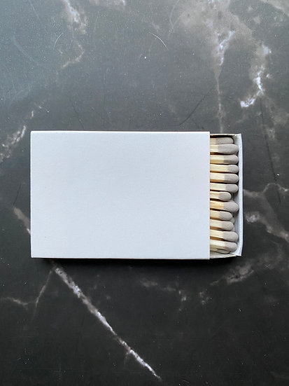Custom Foil Stamped Matchbox - Natural/Grey Matchstick