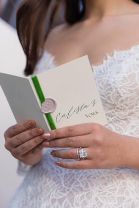 Custom Vow Booklet