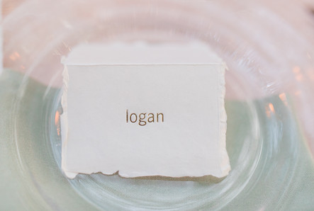 Foil Stamped Place Card