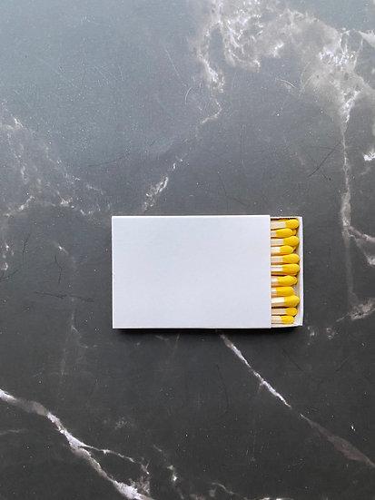 Custom Foil Stamped Matchbox - Natural/Yellow Matchstick