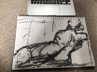 BBC Life drawing lockdown live Mollie Ma