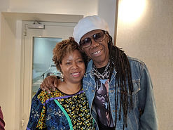 Karen with The Hitmaker Nile Rodgers of Chic at Abbey Road Studios, 2019.jpg