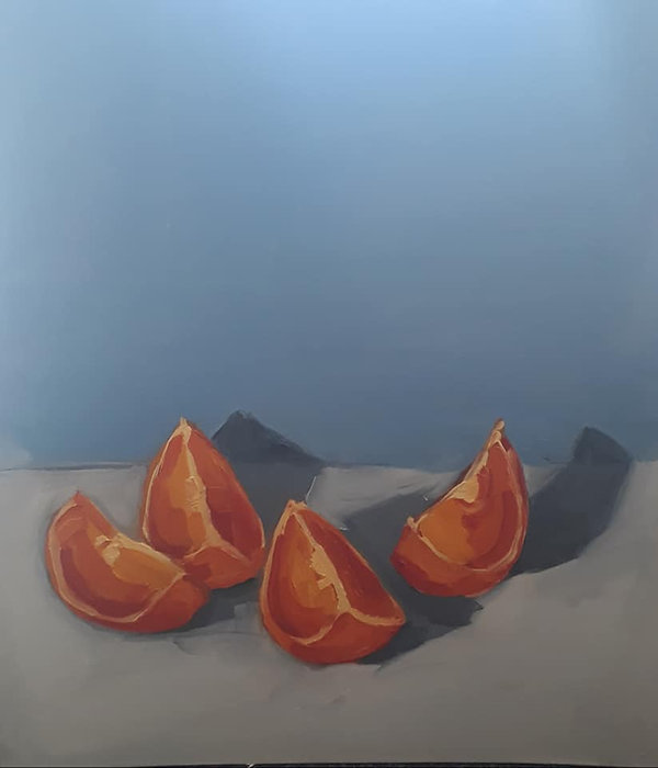 Lisa Blake Still life Orange and Blue @f