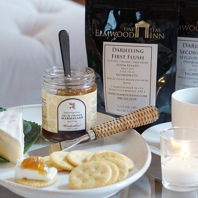 ELMのオリジナルティーとジャム&チーズのぺリングは最高の相性。