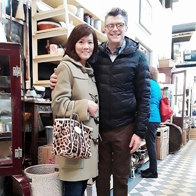 憧れのアメリカを代表するインテリア&家具デザイナーのひとりThomas O'brein氏と面会。