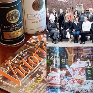 Elmwood Inn Fine Teasティーとロイヤルクラウンダービー社コラボレーションがアメリカ国民的月刊誌Victoriaに掲載されました。