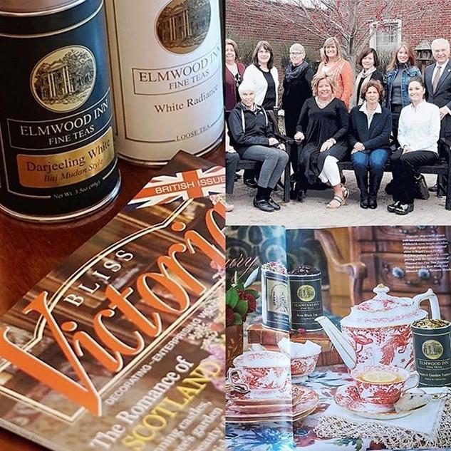 母校Elmwood Inn Fine Teasのオリジナルティーとロイヤルクラウンダービー社のコラボレーション。Victoria誌に掲載されました。