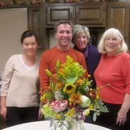 地元のハイスクールにてボタニカルガーデンNYの講師による米国季節のフラワーアレンジメントを習得。