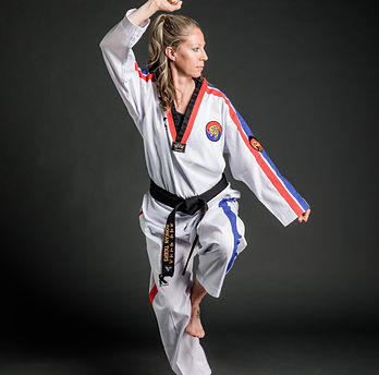 female taekwondo instructor