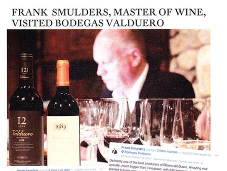 Frank Smulders, Master of Wine, bezoekt Bodegas Valduero