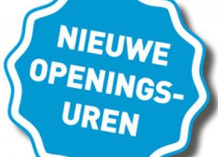 Nieuwe openingsuren vanaf 18 mei.