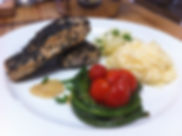 black sesame coated kingfish