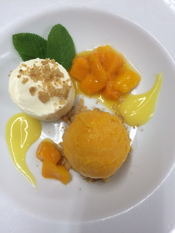deconstructed mango and passionfruit che