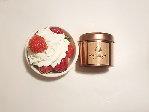 Strawberries & Cream - Rose Gold Candles
