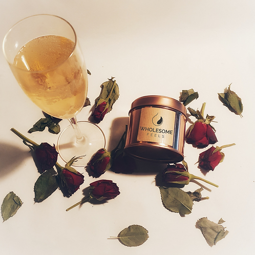 Champagne & Roses - Rose Gold Candles