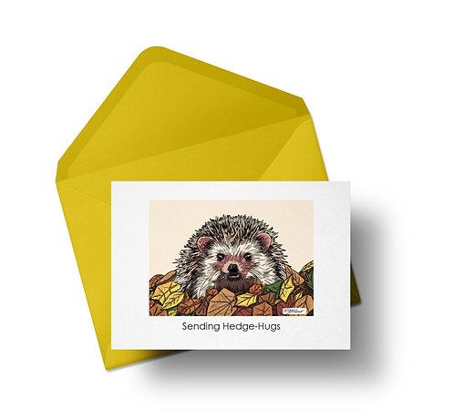 Sending Hedge-Hugs Card